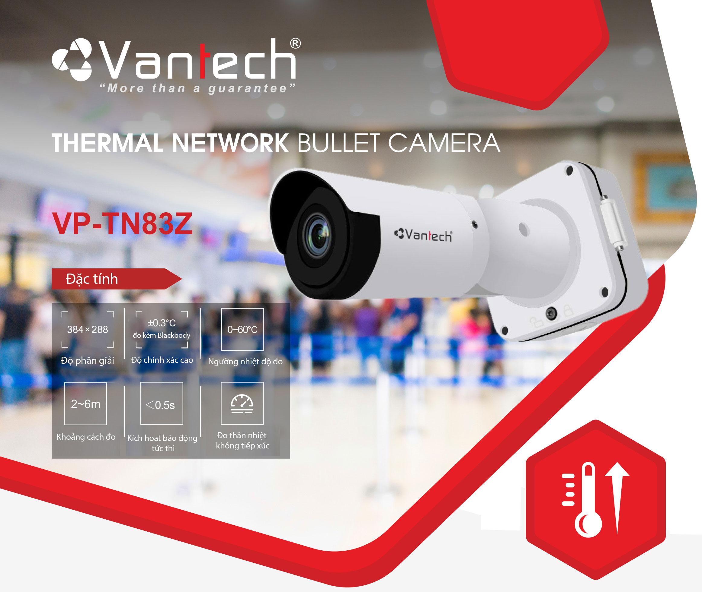 Camera đo thân nhiệt tự động không tiếp xúc Vantech VP-TN83Z