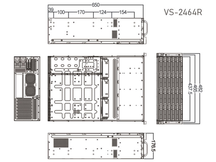 VS-2464R dimensions